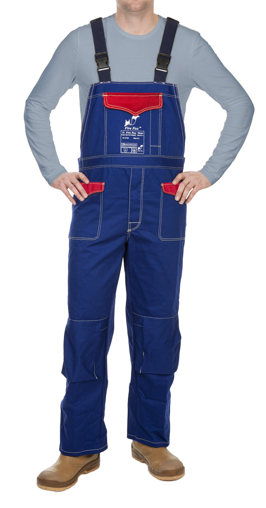 33-2700 Fire Fox welding pants with brest protection front