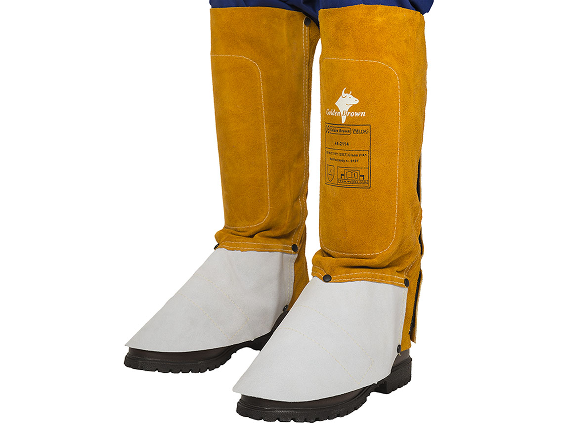 44-2114 Golden Brown welding spats (pair) front