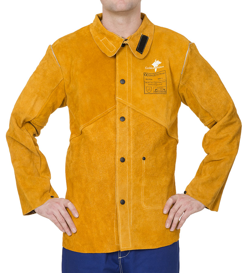 44-2530 Golden Brown welding jacket front