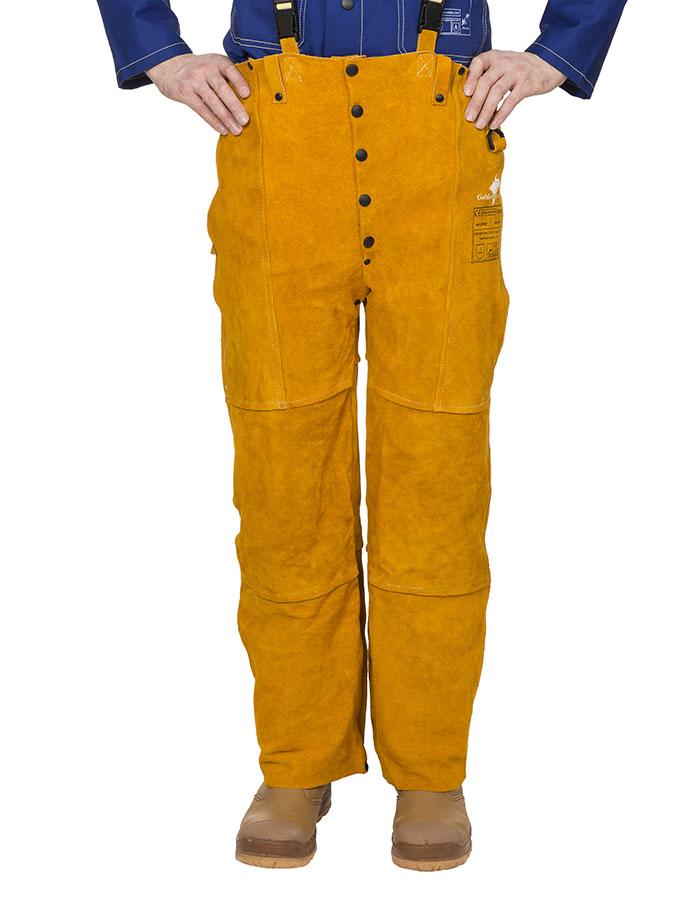 44-2600 Golden Brown welding pants front