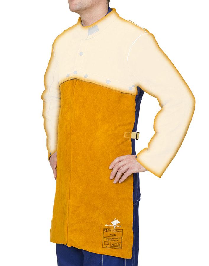 44-28.. Golden Brown welding bib apron side