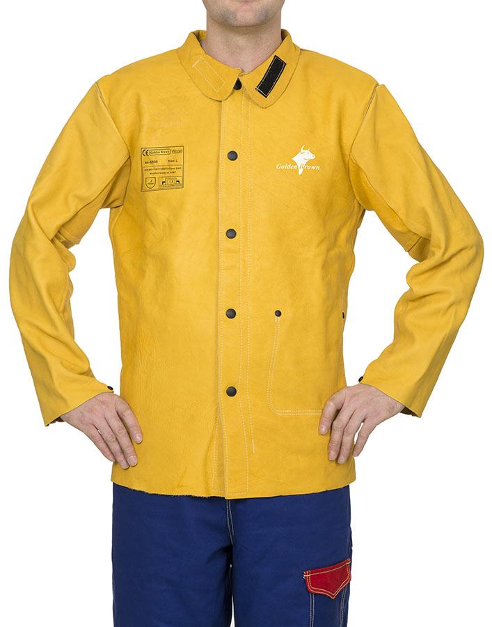 44-5530 Golden Brown welding jacket front