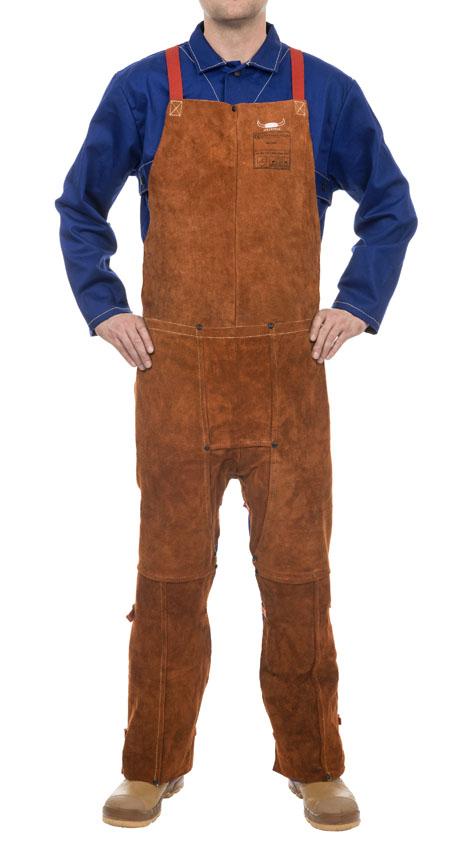 44-7248 STEERSOtuff split leg welding bib apron front