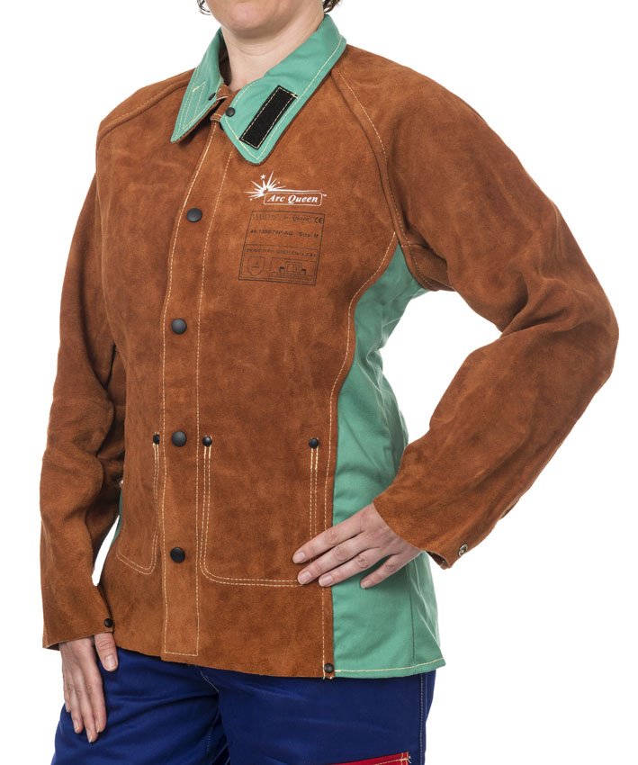 44-7300/P-AQ Arc Queen ladies welding jacket front