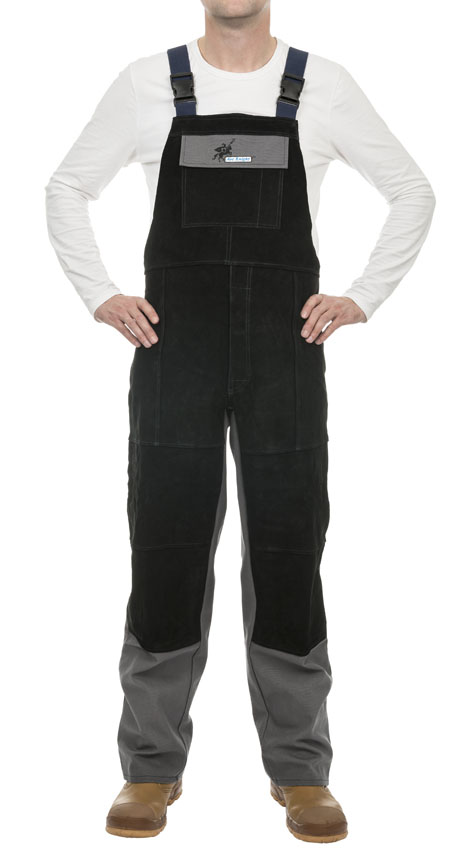 38-4340 Arc Knight welding pants with breast protection front